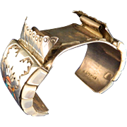1960's Zuni Kachina Dancer Watch Cuff Bracelet