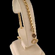 Vintage 14 K Yellow Gold Silk Rope Bracelet