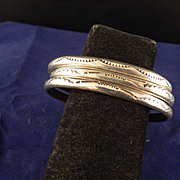 Vintage 3 Piece Navajo Cuff Bracelet