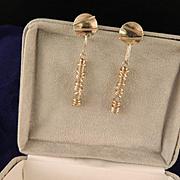 Vintage 80's Sterling Silver Designer Earrings
