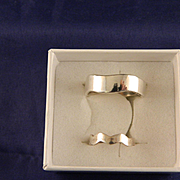 Vintage Sterling Silver Ring and Toe Ring Set
