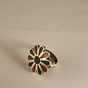 Vintage 1970 Sterling Silver Southwest Rosette Ring