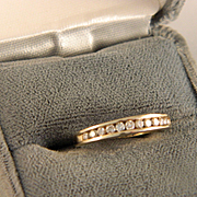 Vintage Gold and .33 ct Diamond Band