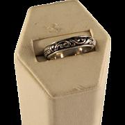 Vintage Engraved Sterling Silver Band