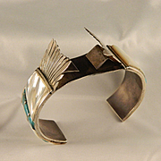 1960's Sterling Silver Zuni Cuff Watch Bracelet