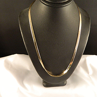 14 K Yellow Gold Serpentine Chain Necklace