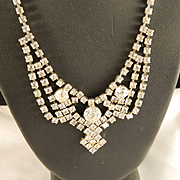 1950's Rhinestone Choker Necklace