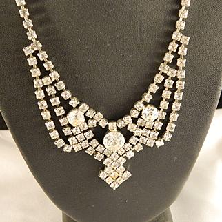 1950's Rhinestone Choker Necklace