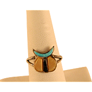 1960's Zuni Fetish Sterling Silver Ring