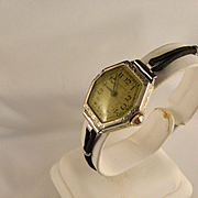 Vintage Ladies Waltham 14 K White Gold Watch