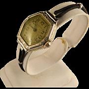 Vintage Ladies Waltham 14 K White Gold Watch