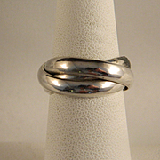 Vintage Sterling Silver Trinity Ring
