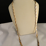 Vintage Tri color gold vermeil Necklace