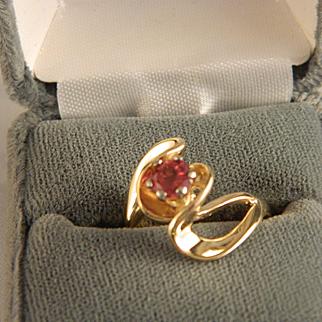 Vintage Oregon Sunstone and 14 K Gold Ring