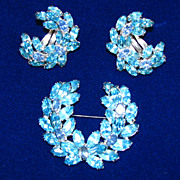 Christian Dior  for Kramer Laurel Wreath Brooch and Earring set