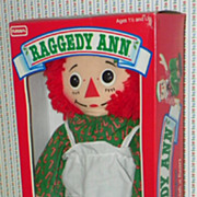 "SALE: Raggedy Ann - 18"" - Hasbro Playskool Christmas Box - 1988"