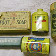 SALE: HBA Drugstore Items - groups- Soap-Powder-Dentals-Laxative - Vintage