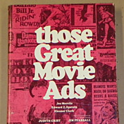 SALE: Those Great Movie Ads - Non-Fiction Book - 1972