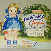 Calendar Jaeger's Bakery - 1944 - Tear Off - Milwaukee - Advertising