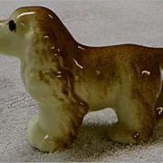 "Spaniel - Ceramic - Vintage Dog Figurine - 4"" long"