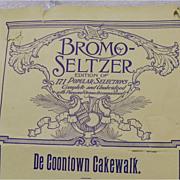 SALE: Bromo-Seltzer Sheet Music - Black Americana - De Coontown Cakewalk
