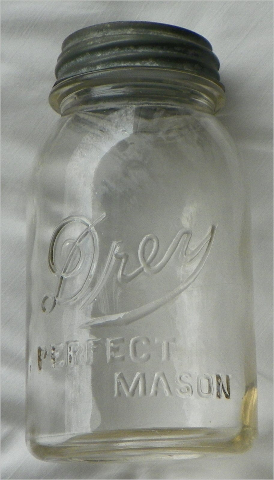 Kitchen Drey Mason Jar Clear Metal Cap 7 Quot High