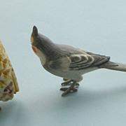 BIRD FIGURINES - Owl & Long Tailed - ceramic - painted - small