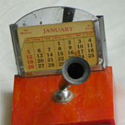Bakelite Desk Calendar - Pen Holder - Vintage