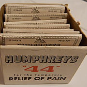 """SALE: Humphreys """"44"""" Pain Relief Tablets Envelopes in Box"""
