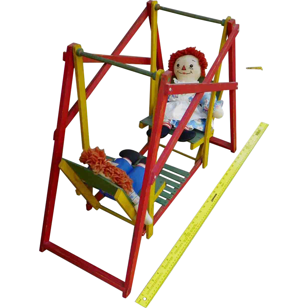 Doll Swing Set - Vintage 1930s - Wood from halsll on Ruby Lane