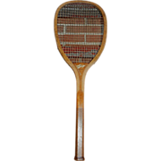 Tennis Racket - Pennant - Vintage - Wood