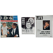 Magazines: J. F. KENNEDY - Look, Life, 4 Dark Days In History - 1960's