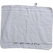 Standard Club Chicago Washcloth - vintage