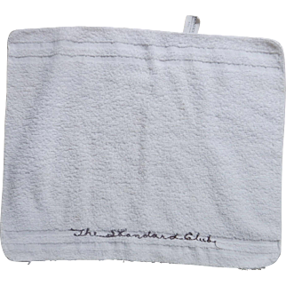 Standard Club Chicago Washcloth - vintage