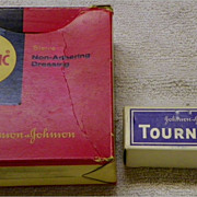Advertising, Vintage: Johnson & Johnson J&J - Adaptic Dressing & Tourniquet