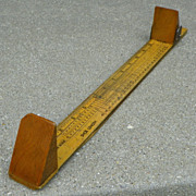 Dr. Scholl's Foot & Shoe Size Measure - Wood - Vintage - tool