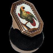 Parrot micromosaic ring