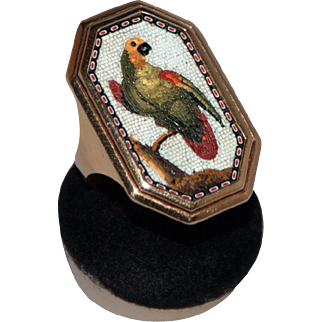 Parrot micromosaic ring