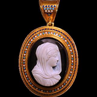Hardstone cameo gift of Pope Pius IX