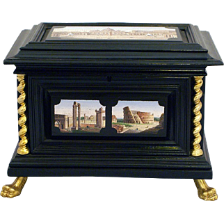 Jewelley box with micromosaic views of Rome