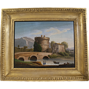 Victorian period Ponte Lucano micromosaic panel
