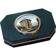 "The ""Temple of Vesta"" micromosaic vinaigrette snuff box"