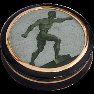 """Borghese Gladiator"" micromosaic snuff box"