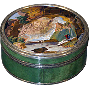 """Neptune's cave"" micromosaic snuff box"