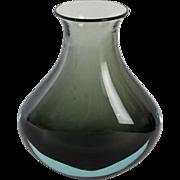 Cenedese Murano glass 1965. Design Antonio da Ros. Teardrop shaped sommerso vase.