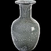 """Barovier & Toso 1964. Designer: Ercole Barovier. Nice shaped """"EFESO"""" vase in grey color."""