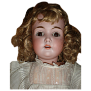 """Rare Antique 26"""" Kestner Child Doll With  Bisque Head  and Composition Body"""