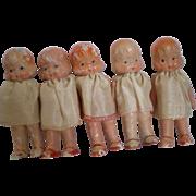 Set of 5 Dionne Quint Type Dolls