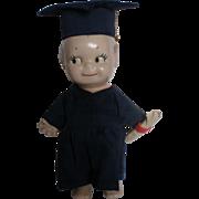 "7"" Ceramic Male Kewpie Graduation Doll"
