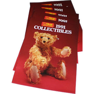Five Steiff 1991 Collectibles Catalogs
